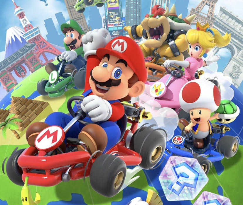 Mario+Kart+loads+on+the+mobile+app.