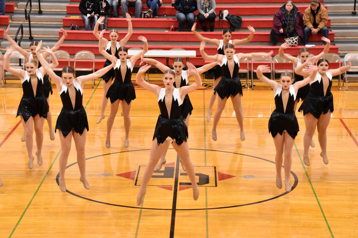 The CFHS jazz dance group performs in their first competition