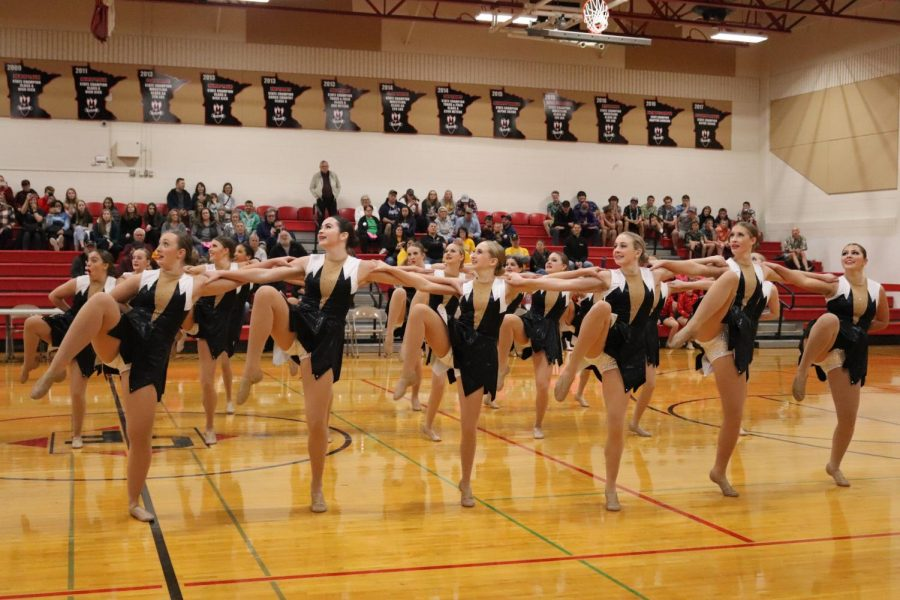 The Bomber Dance Team kicked their competition, earning first at the Cannon Falls invite.