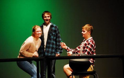 Nick Bultena proposes to Anna Giese in the drama class production