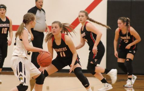 Jaci Winchell and teammates stop their opponents' rush