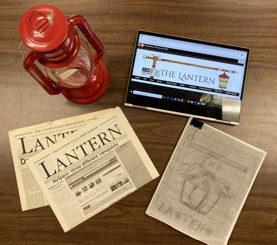 The school newspaper traces its roots back to the 1940's