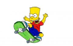 Barts best friend is his skateboard because its his primary mode transportation.