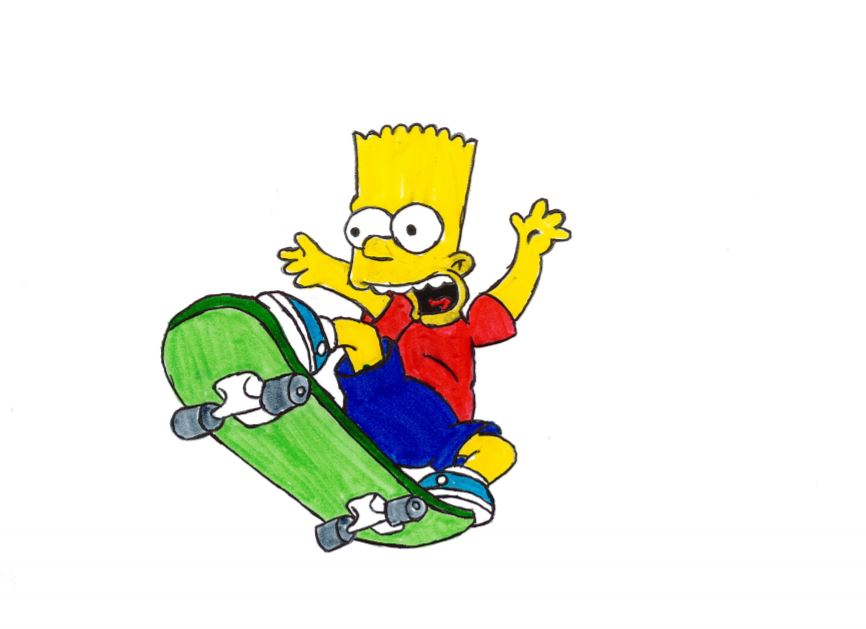 Bart's best friend is his skateboard because it's his primary mode transportation.