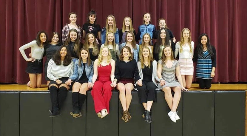 The dancers hope to turn their matching necklaces into medals after State.