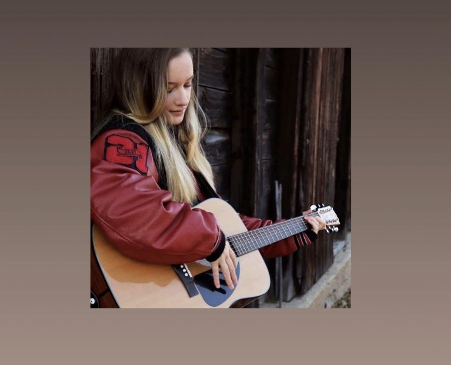 CFHS junior, Kressin Hartl devotes much of her free time strumming her guitar or humming a tune