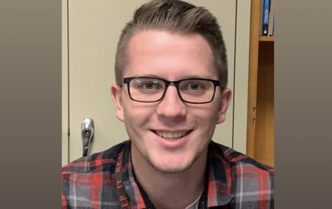 Mr. Pottinger was always seen smiling in the middle school hallways.