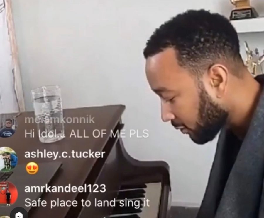 John+Legend+is+one+of+the+many+singers+who+have+used+Instagram+Live+to+stream+their+music.+
