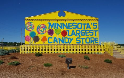 The store is known for it's humongous assortment of sweet treats.