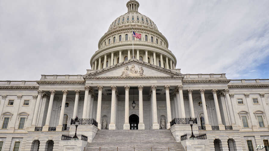 The east face of the United States Capitol Building is seen in this general view. Monday, March 11, 2019, in Washington D.C. (AP Photo/Mark Tenally)