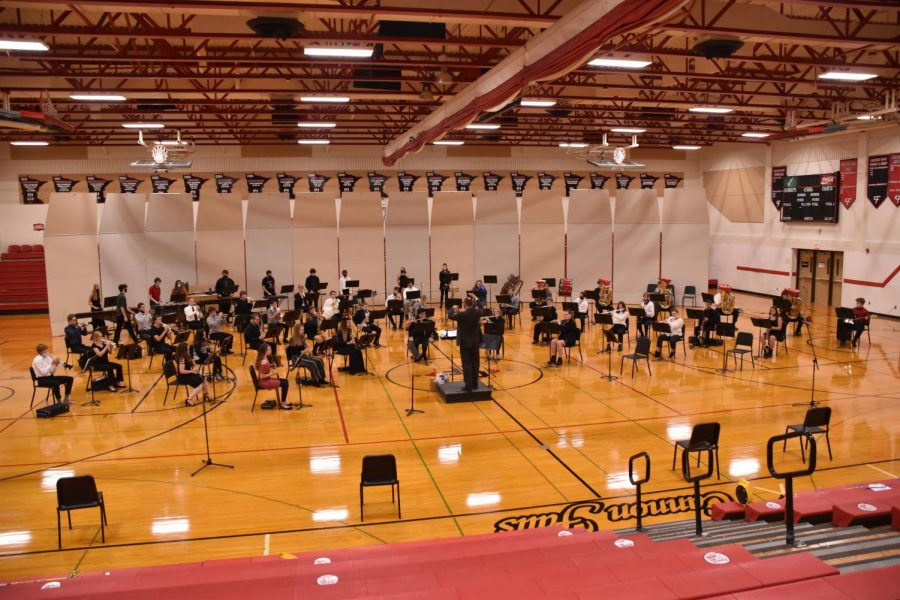 This year, the Cannon Falls Band Program performed their Fall Halloween Concert in a socially distanced manner.