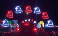 The drive-thru show at Valleyfair supplied a plentiful display of Christmas themed lights.