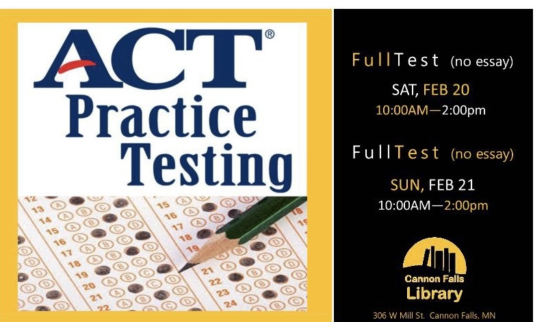 To accommodate the pandemic, the library is giving out practice ACT tests through zoom.