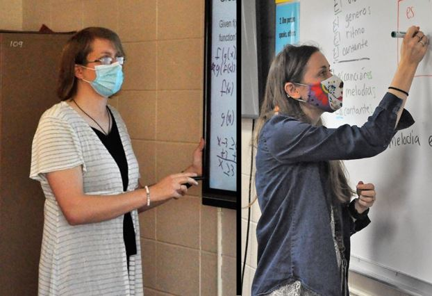 SJ Millerbernd and Karin Crego-Faul are both new teachers at Cannon Falls this year.