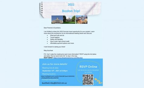 The Boston STEM trip is planned for this summer, 2022.