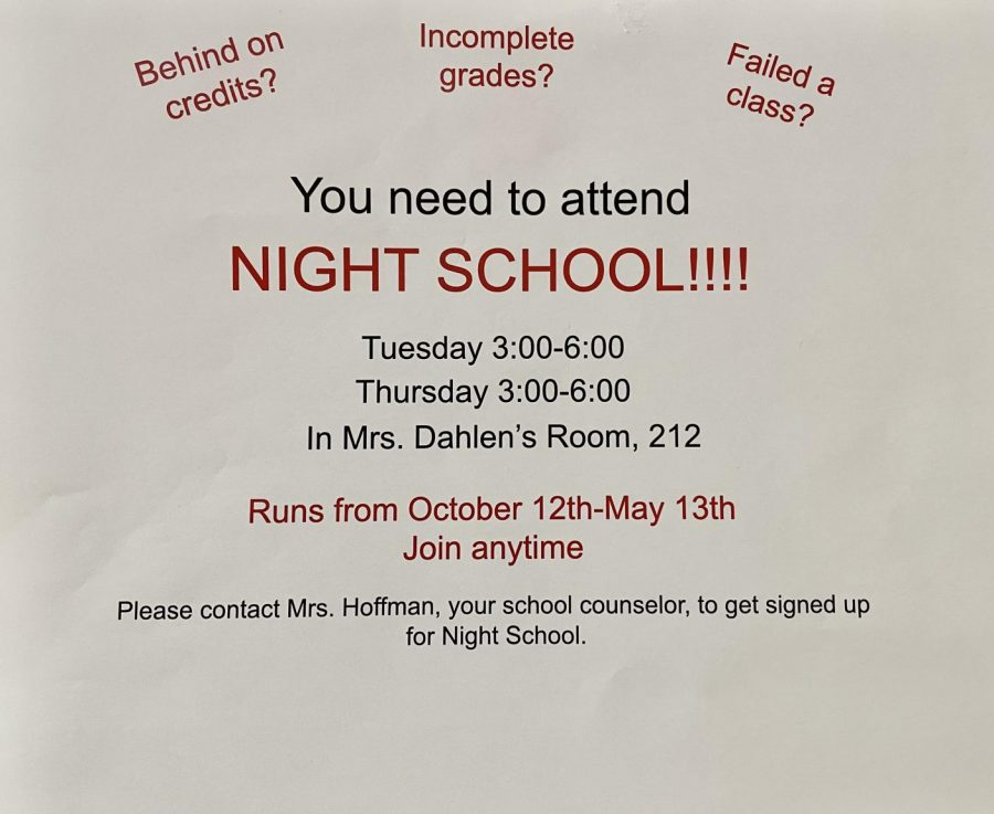 Students who are behind in school are able to catch up with night school and homework help.